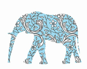Elephant Wall Decals, Light Blue Elephant, Children Wall Decal, Nursery Wall Decor, Elephant sticker, Baby Shower Gift, Elephant decor