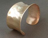 Gold Cuff Bracelet Modern Jewelry Handmade Brass Cuff