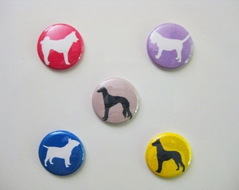Colorful Dog Silhouette Magnet