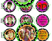 One Direction Bottle Cap Images 1 inch circles