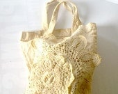 Bag. Pouch. Vintage.Cotton. Bag for gifts. Upcycled. Christmas.OOAK