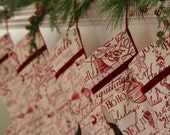 Christmas Carols/Words Christmas Stocking - WonderfulLifeFarm
