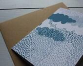 Rain cloud card