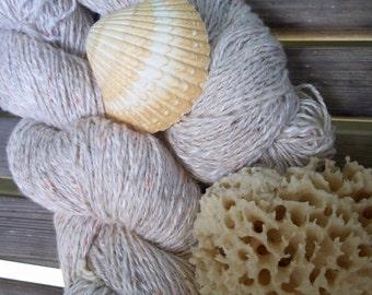 DK Weight Yarn - Natural Silk Blend - Farmhouse Yarn -  4 oz skeins - 350 yards -  Neutral Seaside Beige Ecru Cream