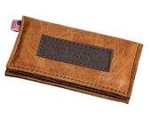 Leather iPhone 5 Wallet New: Handmade Sunrise