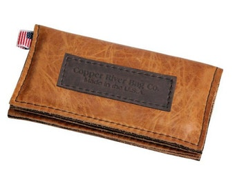 Leather iPhone 5 Wallet New: Handmade Sunrise