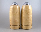 Salt and Pepper Shakers - Handmade Birdseye Maple with chrome caps