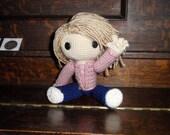 Rose Tyler the Sackgirl reserved for knittergurl