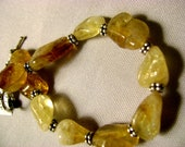 Manifest and Clarity Bracelet with Citrine, Boost your Creativity, Made by Lotus Mama, Lotus Jewelry