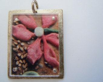 Mexican Folk Art Sterling Silver Charm Pendant