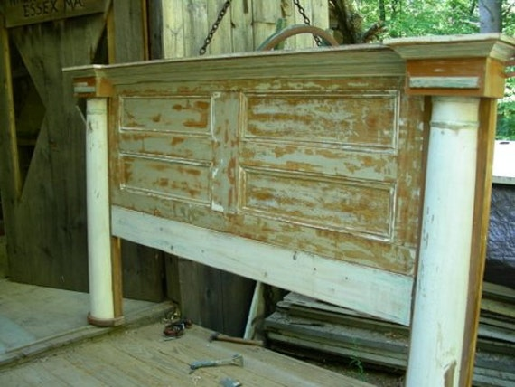 H8 Artistic Headboard Or Bed Made From Antique Architectural