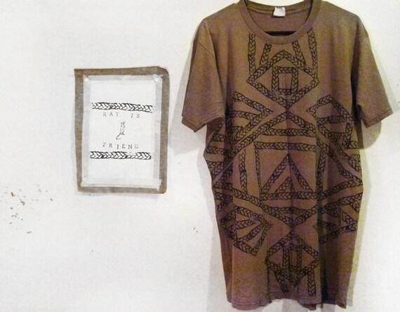 AIR FOR LUNA block print t shirt mexican poncho print style summer fashion