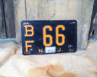 CYBER MONDAY SALE - Vintage Nj License Plate