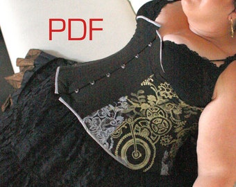 XL-XXL 1880s corset pdf sewing pattern and instructions for historic corset, US size 18-24 or Euro 48-54, Range of Bra Sizes