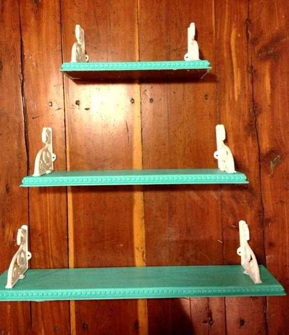 Hand Painted Floating Shelves