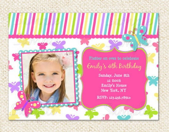 butterfly birthday invitations, Birthday invitations
