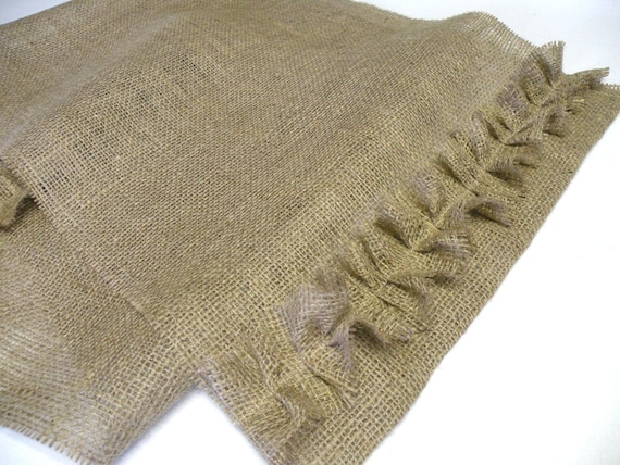 Burlap Table Runner with Ruffle - Fall, Harvest, Thanksgiving, Weddings or Everyday