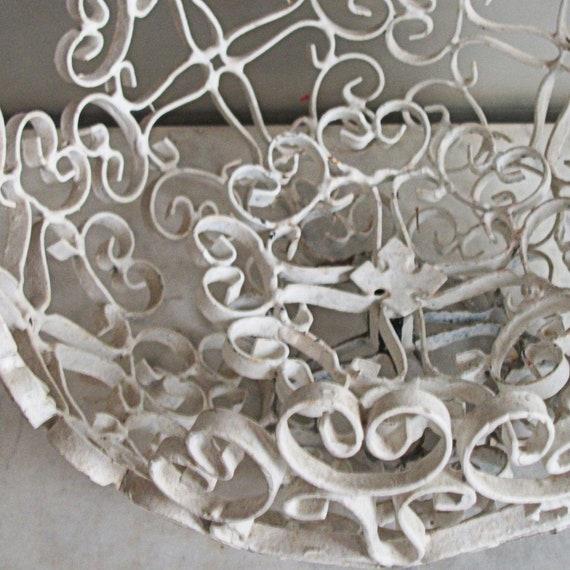 Vintage Scrolled Metal Basket