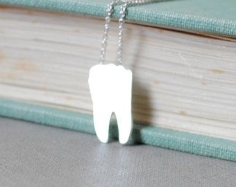 Silver Tooth Necklace
