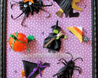 Ribbon Sculpture Characters Halloween Hair Clips U Pick One
