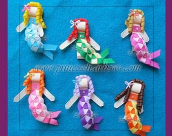 "Ribbon Sculptured Mermaids Hair Clip"""