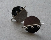 Sterling silver disc studs - Sterling silver post earrings - Silver jewelry - Handcrafted jewellery