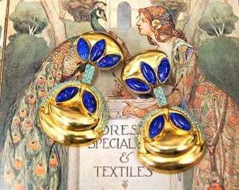 70's William de Lillo Drop Earrings