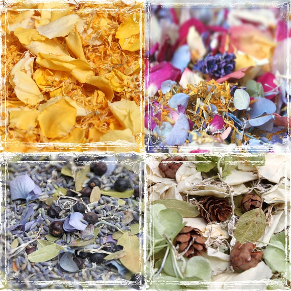 Bulk Petal Confetti - Wedding Potpourri - 10 Cups Dried Flowers - Weddings - Spring Summer Fall Winter  - Aisle and Table Decoration