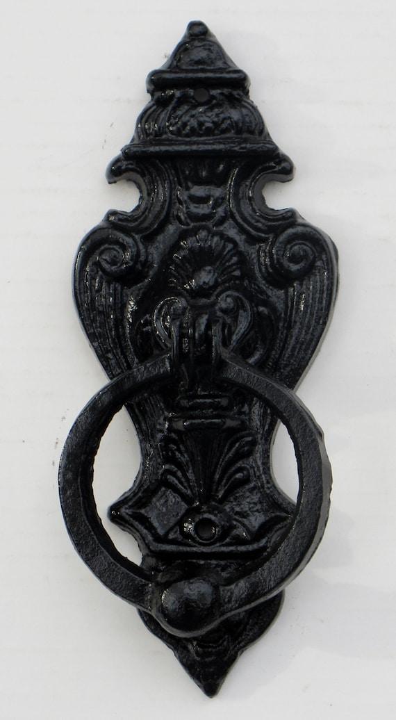 Cast Iron Lion Head Door Knocker Black Knockerrustic