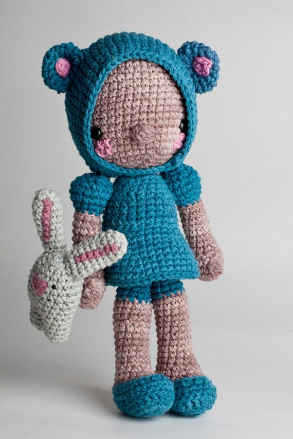 Amigurumi Doll pattern Diega by LosSospechosos on Etsy