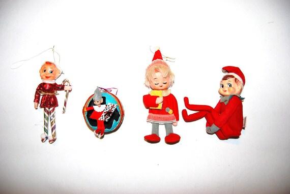 LYNN.... one pixie....Vintage Pixie Elf Ornaments