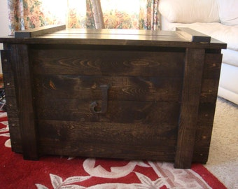 Wooden Toy Box extra tall / Blanket Chest with monogram