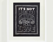 Where You Love Art Print // 8 x 10