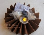 CUSTOM ORDER Individual Rosette Pinwheel Paper Flowers Boutonnieres/Corsages Brown
