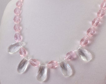 Pink and Crystal Necklace