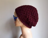 The Honeycomb Slouchy Hat (Claret/Oxblood)