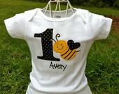 Bumble Bee Birthday Onesie/Shirt- Personalized