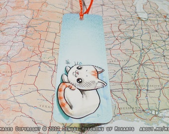 Adorable Chibi Orange Tabby Kitty Cat Bookmark