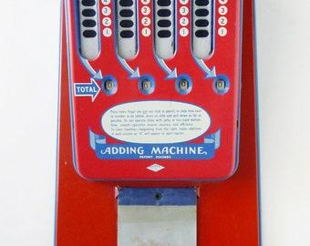1950's Wolverine TOY metal adding machine in original box