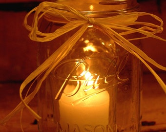 Mason Jar Candle, Simple Plain and Elegant Candles for weddings, parties, table centerpiece, home decor, rustic decor, candle