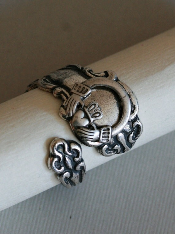 antique spoon ringjewelry gift celtic ring by emmalocketshop