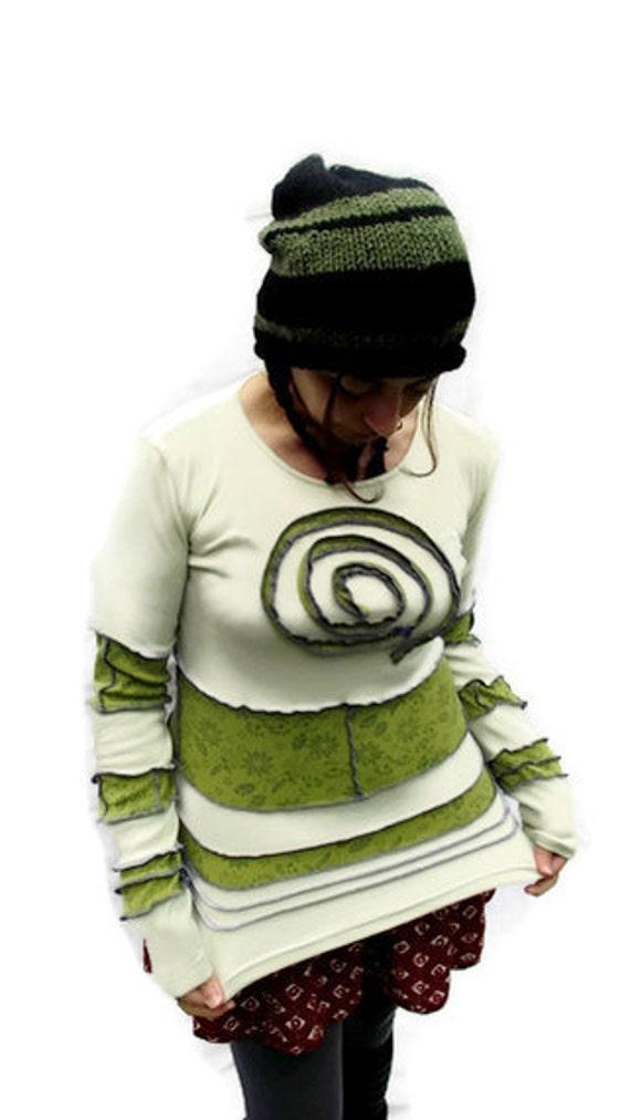 Apple Green  Spiral Pixie Top