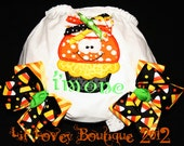 "Halloween Birthday....""CANDY CORN CUPCAKE"" Birthday Bloomers For Baby Girl or Toddler"