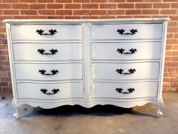FREE NYC DELIVERY Painted White French Provincial Dresser Farmhouse Cottage Chic