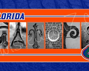 Florida Gators Football Alphabet Photo Collage
