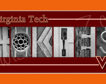 Virginia Tech Hokies Alphabetography Photo Collage Print