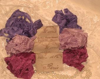 Scrunched Seam Binding ribbon, Crinkled Seam Binding Package Tres Jolie ECS