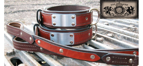 The Roch, 2 inch 2 layer leather dog collar