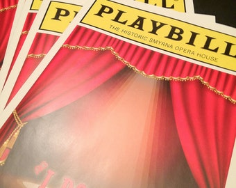 PLAYBILL theater programs for wedding, birthday or other special occasion DEPOSIT 4 page version
