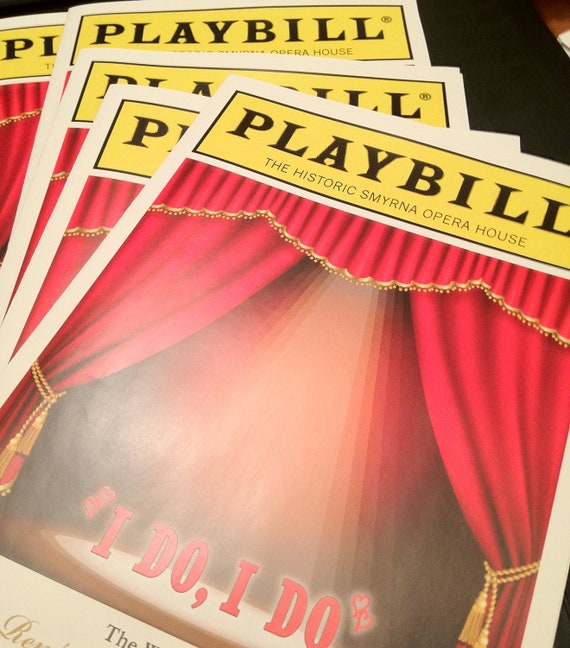 PLAYBILL theater wedding program or invitation 8 page Broadway themed NY